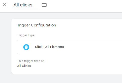 Google Tag Manager All Click Trigger
