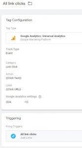 Google Tag Manager All Link Clicks Trigger