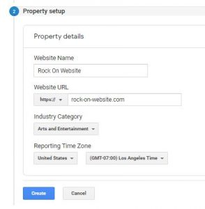 Google Tag Manager Property Settings