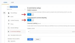 Google Analytics Enhanced E-commerce Settings