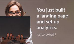 new landing page and analytics