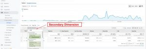 Apply Secondary Dimension Google Analytics
