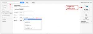 Custom Segment Wizard Google Analytics
