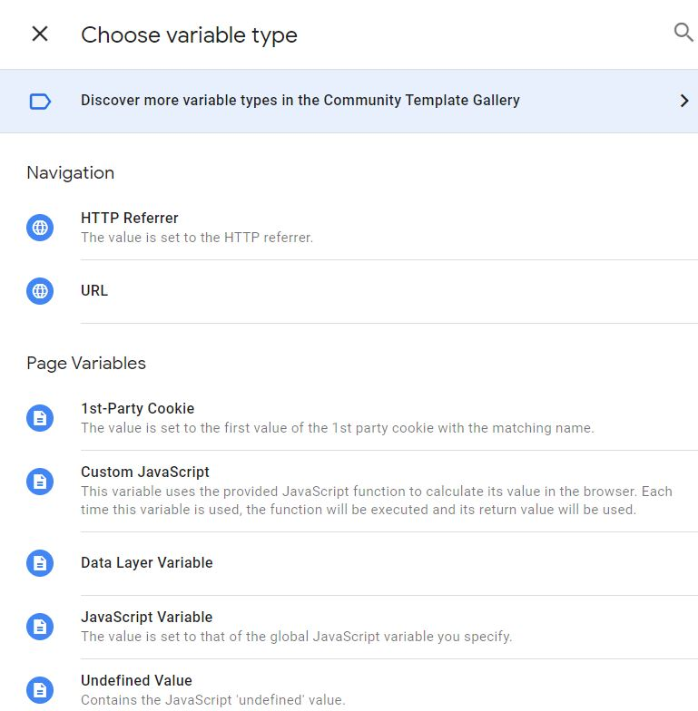 Custom Variables Google Tag Manager