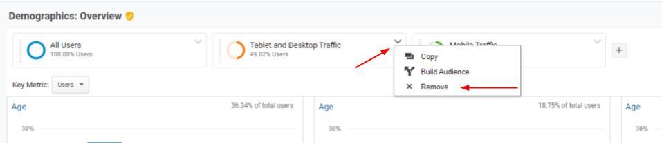 Remove segment Google Analytics