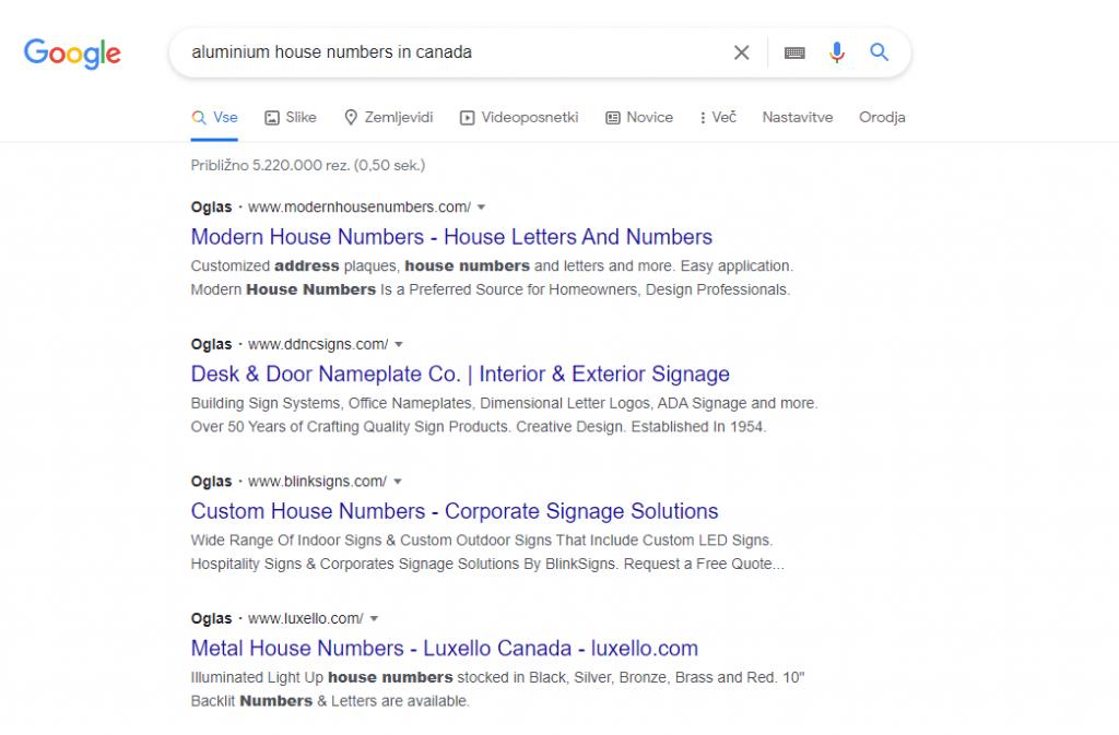 google ad skag campaign